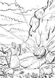 Small Picture Trend Moses And The Burning Bush Coloring Page 2754 Unknown