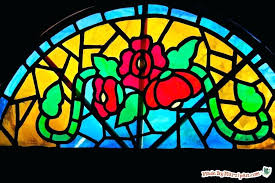 diy stained glass faux stained glass window diy stained glass window
