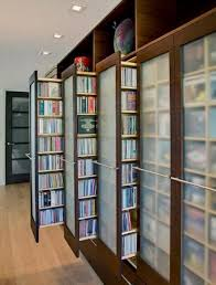 Contemporary bookcases, space-saving storage ideas