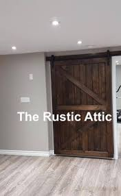 atlanta interior sliding barn door double z style rustic plank single barn door includes sliding door hardware and track home ideas