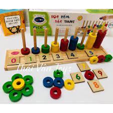 Bộ đồ chơi học đếm số bằng gỗ thông minh giáo dục cho bé chính hãng