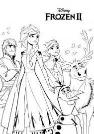 Frozen coloring pages are printable pictures of elsa, anna, kristoff, and his loyal friend reindeer sven, snowman olaf and other famous characters from the magnificent disney animated movie. Frozen 2 Free Printable Coloring Pages For Kids