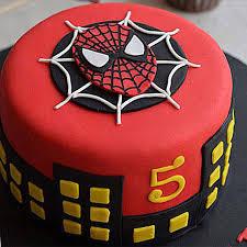 Round Fondant Spiderman Cake 3kg Black Forest Gift Spiderman