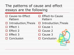 cause and effect essay hellenga quest preparatory academy ppt  6 the patterns of cause and effect essays