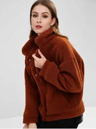 lady fluffy sherpa faux fur winter coat sienna m