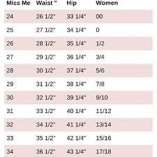 Mossimo Size Charts 2019