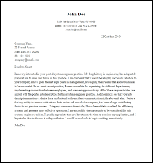 Professional Systems Engineer Cover Letter Sample Writing Guide