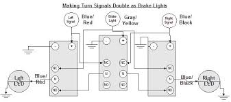 making rear turn signals double as additional brake lights the wire comes from the turn signal and disables the brake relay is the signal wire constant on or is it pulsing through the turn signal flasher