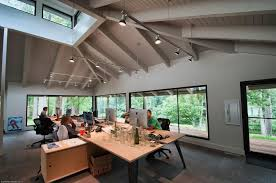 office space lighting. Track Lighting Fixtures In Open Concept Office Space