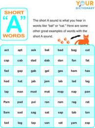 list of short vowel words