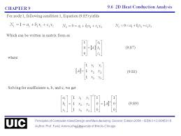 9 6 2d heat conduction ysis chapter 9