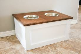 dog storage furniture. DIY Dog Food Station With Storage Featuring Addicted 2 Furniture