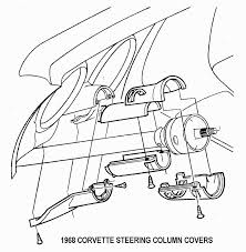 1967 late and 1968 corvette standard non adjustable steering column disassembly repair instructions paper 1 disassem