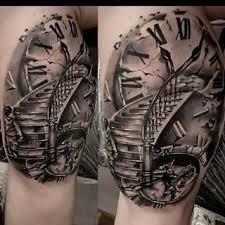 Résultat De Recherche Dimages Pour Stairs To Clock Tattoo Tatto