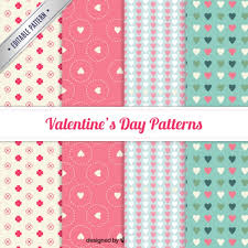 Pattern Collection Amazing Lovely Valentine Day Pattern Collection Vector Premium Download