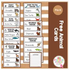 Free Printable Pocket Chart Cards Free Animal Cards For Pocket Charts
