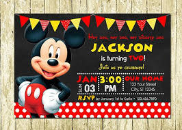 mickey mouse party invitation ninja warrior invitations printed or digital printable diy