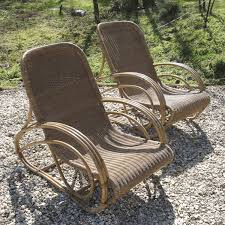 deco garden furniture. a pair of art deco garden loungers by dryad picture furniture