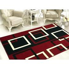 black and red area rugs sweet home s modern boxes dark white geometric rug 5 red black and white area rugs