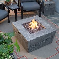 square gas fire pit table with free cover com