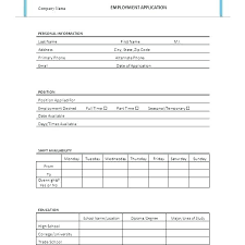 Free Downloadable Employment Application Forms Job Application Form Templates Free Premium Generic Template