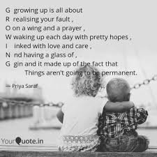 Quotes About Sons Growing Up Custom G Growing Up Is All Abou Quotes Writings By Priya Saraf