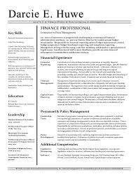 Career Change Resume Sample Resume For Skills Financial Analyst