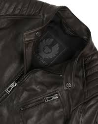 belstaff men s v racer leather blouson jacket dark brown