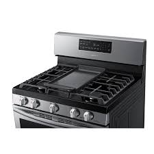 samsung stove lowes. Wonderful Samsung Shop Samsung 5Burner Freestanding 58cu SelfCleaning Convection Gas Range  Stainless Steel Common 30in Actual 2981in At Lowescom Throughout Stove Lowes O