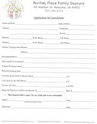 Daycare Form Print Parent Survey Printable For Child Care Childcare