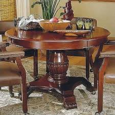 steve silver company tournament 48 wood round casual dining table in cherry