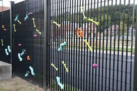 Public Art Installation on Sewage Plant Fence Completed ARLnowcom