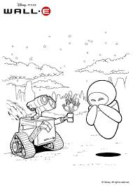 Wall E And Eve Coloring Page