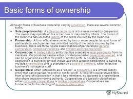 forms of ownership презентация на тему business a presentation was executed by