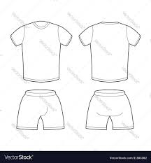 Shorts Design Template T Shirt And Shorts Template For Design Sample For