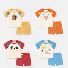 Đồ bộ côc tay cho bé trai và bé gái chất vải thun lạnh QATE652 , quần áo  trẻ em cho bé từ sơ sinh đến 18kg chính hãng