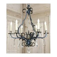 crystal iron chandeliers antique wrought iron and crystal chandelier wrought iron crystal chandelier lighting country french