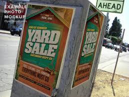 end of summer yard flyer template flyerheroes end of summer yard flyer template