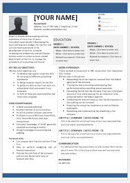 Chief Accountant Resume Template For Word Word Excel