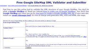 free google sitemap xml validator and submitter