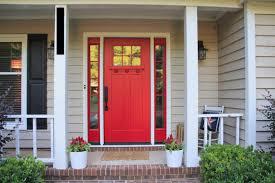 front door with sidelitesRed Front Door With Sidelites  Hanging Curtain for Front Door