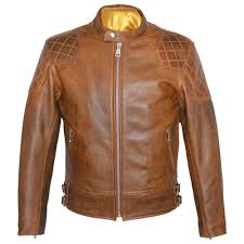 goldtop 76 armoured leather jacket brown 1