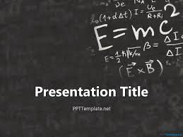 Chalkboard Ppt Theme Einstein Physics Ppt Template School Is Cool In 2019 Ppt