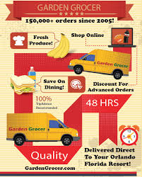 garden grocer has made over 400 000 successful deliveries in the orlando area garden grocer delivers to resorts hotels and vacations homes
