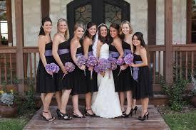 Wedding Colors With Black Bridesmaid Dresses