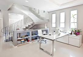 Minimalist cool home office Decor Gorgeous Home Office With Various Effects Matching Season Cool Bright White Home Office With Minimalist Hqwallsorg Furniture Cool Bright White Home Office With Minimalist Interior