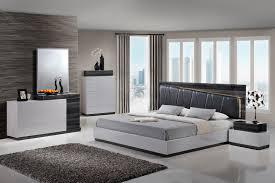 Global Bedroom Furniture Global Furniture Lexi 4 Piece Upholstered Bedroom Set In Silver Gray