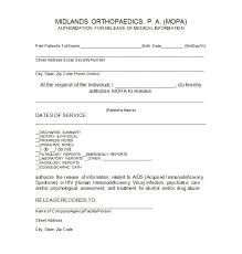 Medical Release Form Sample Custom 44 Medical Release Form Templates Template Lab