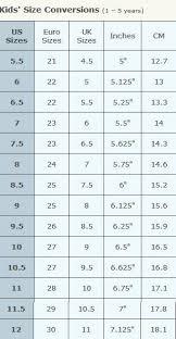 Toddler Shoe Size Chart Gap 57 Surprising Kid Girl Shoe Size Chart