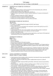 Veterinary Resume Samples Veterinary Technician Resume Samples Velvet Jobs 13